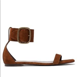 Saint Laurent Loulou Flat Buckle Sandal